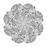 Round element for coloring book. Stock Photo