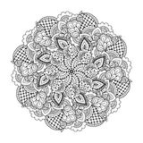 Round element for coloring book. Royalty Free Stock Photography