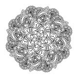 Round element for coloring book. Royalty Free Stock Photo