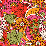 Round element for coloring book. Black and white floral pattern. Royalty Free Stock Photography
