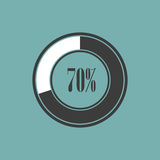 Round element of infographics in pie charts. Vector illustration Stock Photo