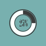 Round element of infographics in pie charts. Vector illustration Royalty Free Stock Photos