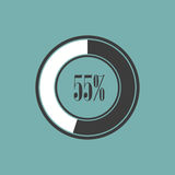Round element of infographics in pie charts. Vector illustration Royalty Free Stock Image