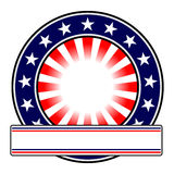 Round emblem with copy space Stock Photography