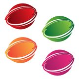Round emblem graphic vector design elements in different color. Color design element . Vector illustration EPS.8 EPS.10 Vector Illustration