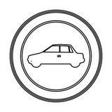 round emblem side car icon Stock Photo