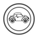round emblem side sport car icon Royalty Free Stock Photography