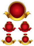 Round emblems set. Stock Images