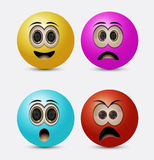 Round emoticons Royalty Free Stock Images