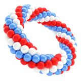 Round empty frame made of spheres isolated Stock Photos
