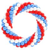 Round empty frame made of spheres isolated Stock Photo