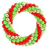 Round empty frame made of spheres isolated Royalty Free Stock Photo