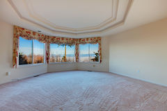 Round empty room with amazing window view Royalty Free Stock Image