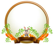 A round empty template with a rabbit Royalty Free Stock Image