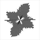 Round equalizer, sound wave symbol isolated on white background Stock Photo