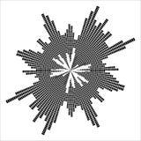 Round equalizer, sound wave symbol isolated on white background Royalty Free Stock Photo