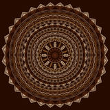 Round ethnic ornament in cappuccino tones Stock Images