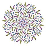 Round ethnic ornament isolated on white Stock Photography