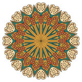 Round ethnic pattern Royalty Free Stock Images