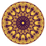 Round ethnic pattern Stock Images