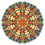 Round ethnic pattern Stock Image