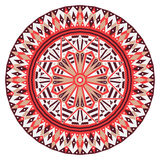 Round ethnic pattern Stock Photo