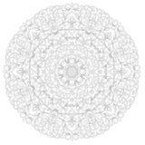 Round etniczny wzór Obrazy Royalty Free
