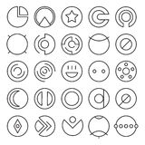 Round Experimental Icons Stock Photo