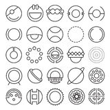 Round experimental icons Stock Photos