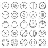 Round experimental icons Stock Photo