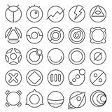 Round experimental icons Royalty Free Stock Photos