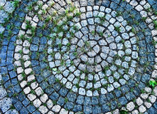 Round exterior tile texture Stock Photos