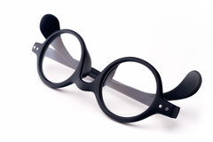 Round eyeglasses Stock Photos