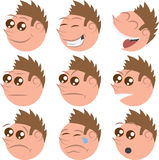 Round Face Expressions Stock Photos