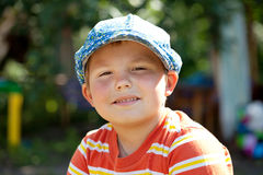 Round-faced boy Stock Images