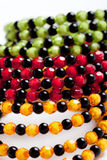 Round facet beads. Stock Image