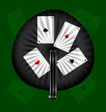 Round fan and cards Stock Photos