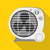 Round fan heater icon, flat style vector illustration