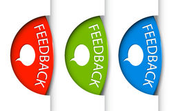 Round Feedback tabs on the edge of the (web) page Royalty Free Stock Photos