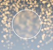 Gray and golden bokeh background. Round festive gray and golden bokeh background. Vector illustration Stock Photos