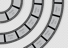 Round film strip vintage swirl design element template for photo. Album. Vector illustration Royalty Free Stock Photos