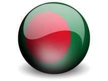 Round Flag of Bangladesh. With Glossy Effect Stock Photo