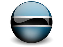 Round Flag of Botswana. With Glossy Effect Royalty Free Stock Photo
