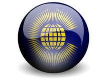 Round Flag of CommonWealth. With Glossy Effect Stock Photography
