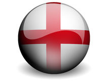 Round Flag of England. With Glossy Effect stock illustration