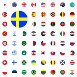 Round flag icon. Round World Flags Vector illustration Icons Set. Round flag icon. Round World Flags Vector illustration Icons Set Royalty Free Stock Photo