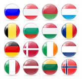 Round Flag Icon Vector Illustration Stock Images