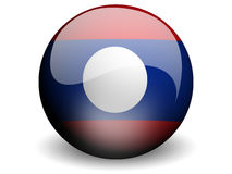 Round Flag of Laos Stock Images