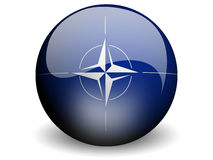Round Flag of Nato. With Glossy Effect