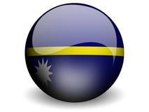 Round Flag of Nauru Stock Photo